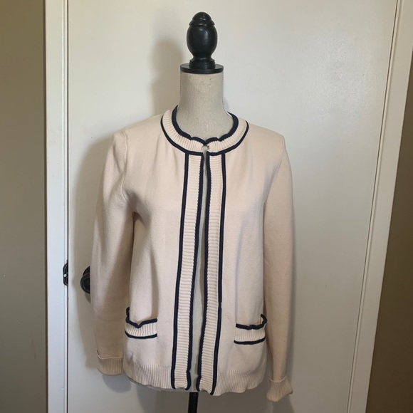 Marc Jacobs Cardigan Medium Ivory Blue Knit